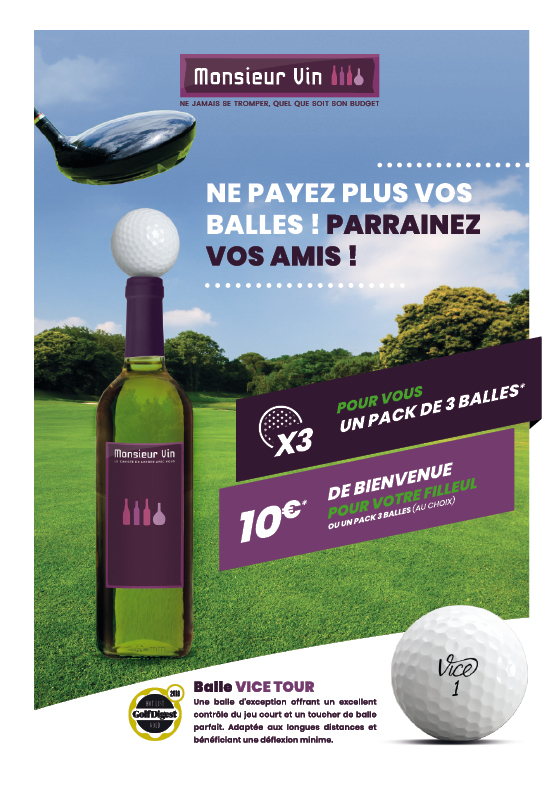 parainage Monsieur Vin Golf